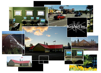 Collage of various images related to KenNet and Kensington